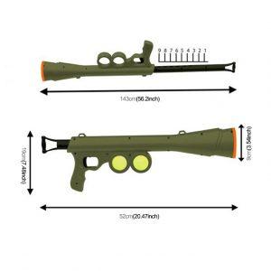 Tennisball-Bazooka. Spaß für Hund und Herrchen