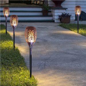 Azteken Lampen, Garten, Wegbeleuchtung, schön und dekorativ