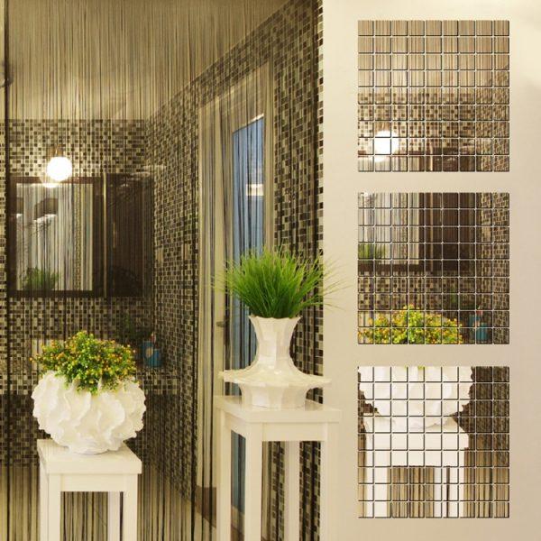 100 kleine Mosaik Spiegel, Wanddeko