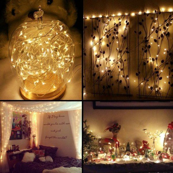 Hochzeitsdeko, Feenlichter, Light Glas