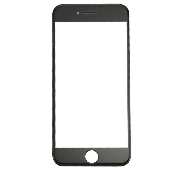 iPhone 8 Frontscheibe mit Front LCD Display Rahmen & OCA Klar Kleber (schwarz)