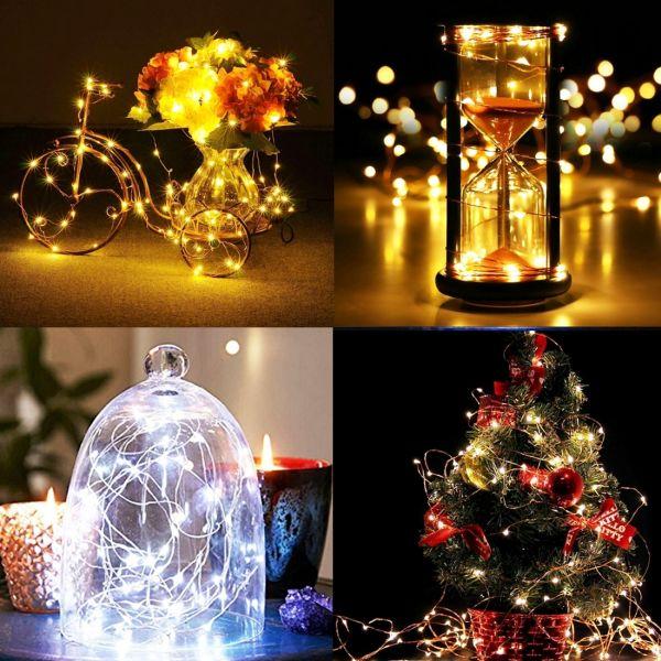 10 m Feenlichter, Hochzeitsdeko, Light Glas